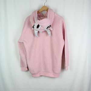 FOREVER 21 PINK HOODIE SIZE L